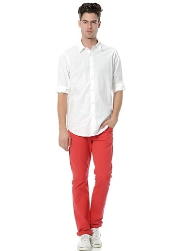 T-Box Pantolon Kırmızı
